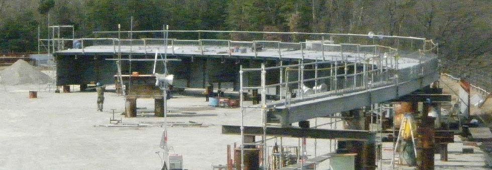 橋梁 仮組立,鉄骨 仮組立,製造 シミュレーション,誠和鋼販 仮組立