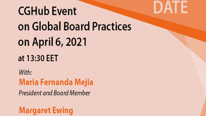 CGHUB Event on Global Board Practices on 6th April, 2021