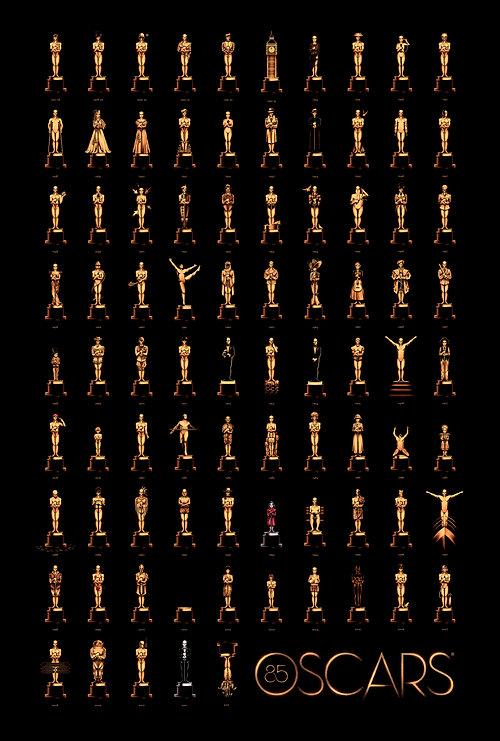 Illustrations des Oscars du meilleur film, par Olly Moss