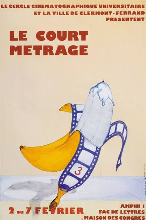 Affiche Festival du Court Métrage de Clermont Ferrand 1981