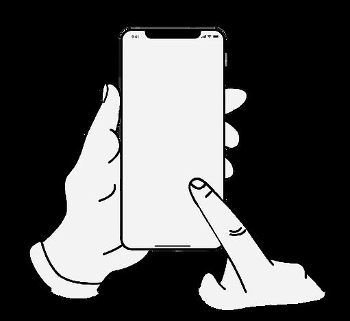 スマートフォンフォンを持つ手