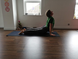 Laurence teaching yoga class in norwich