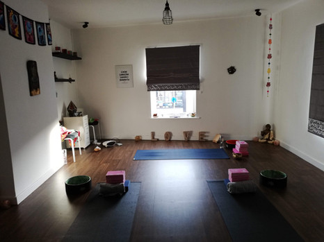 yoga studio in norwich ready for class to start