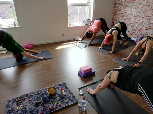 yoga studio norwich sun salutation event