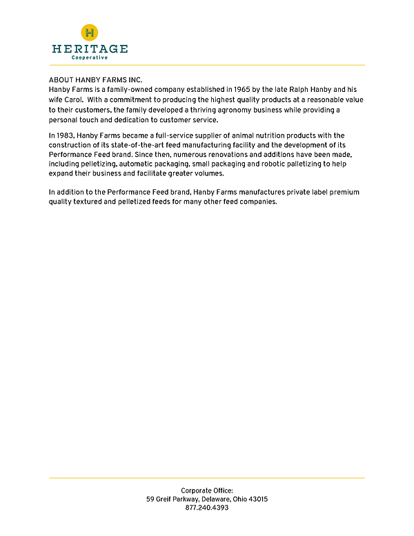 Heritage Cooperative-Hanby Press Release
