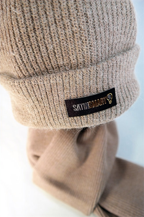 Taupe Watch Cap & Scarf Set