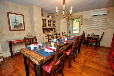 Enjoy Breakfast in our Farmhouse Dining Room