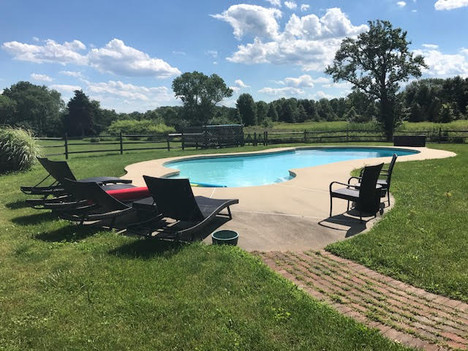 Bask in the sun and cool off at the spacious in-ground pool