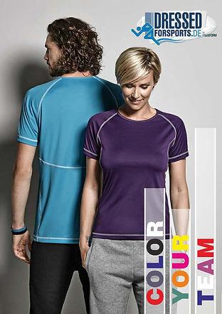 Teamkleidung, Sportbekleidung Vereine, Laufgruppe bedruckte T-Shirts