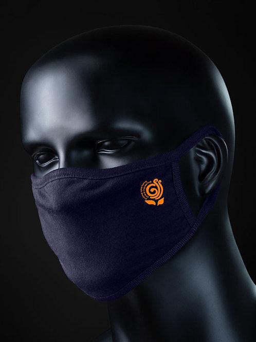 Mund-Nasen-Maske aus Bio-Baumwolle mit GSS Herford-Logo