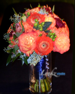 Bridesmaids bouquet with seeded eucalypt