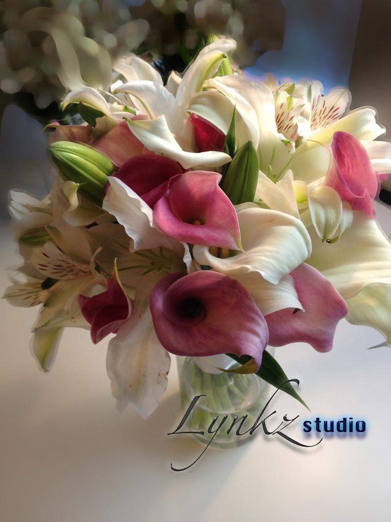 Bride's bouquet from white oriental lill