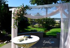 Wedding ceremony pergola