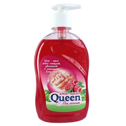 Крем- мыло Queen, 480 мл. Малина с дозатором