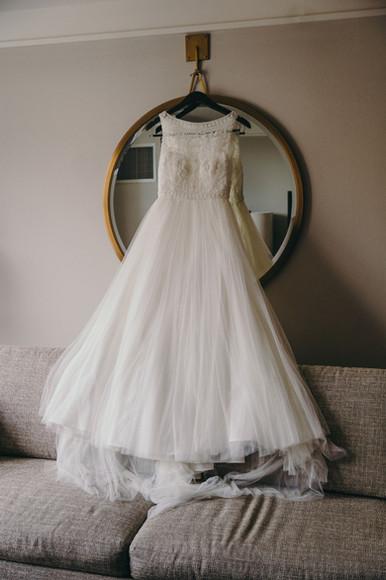 Bride wedding dress UF Hilton