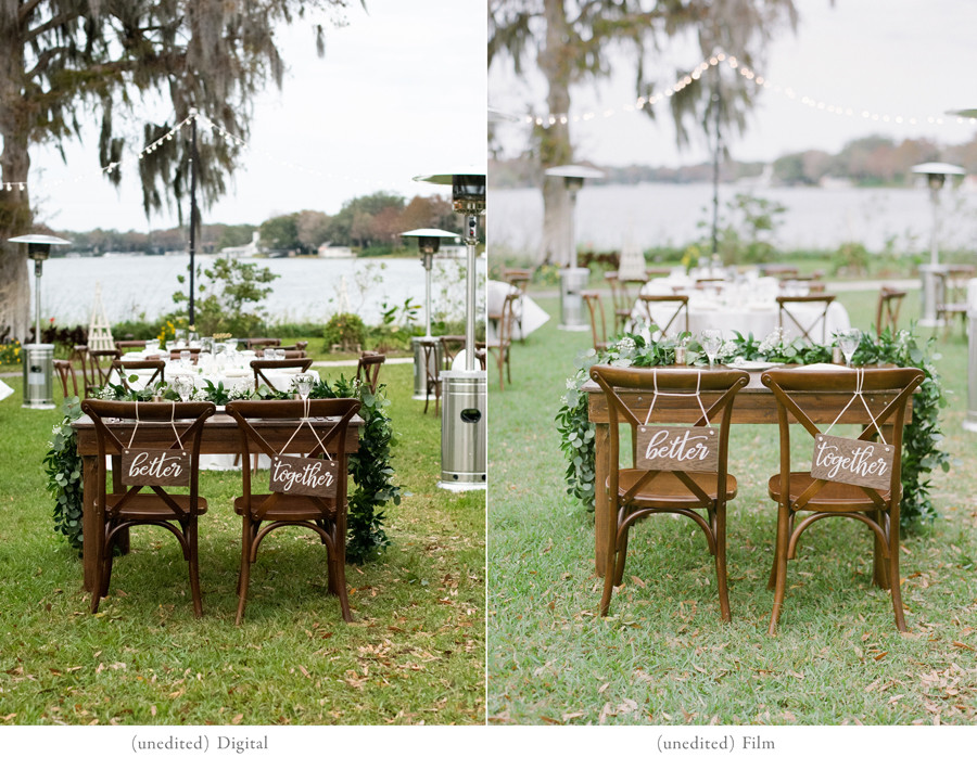Digital vs film wedding photography comparison