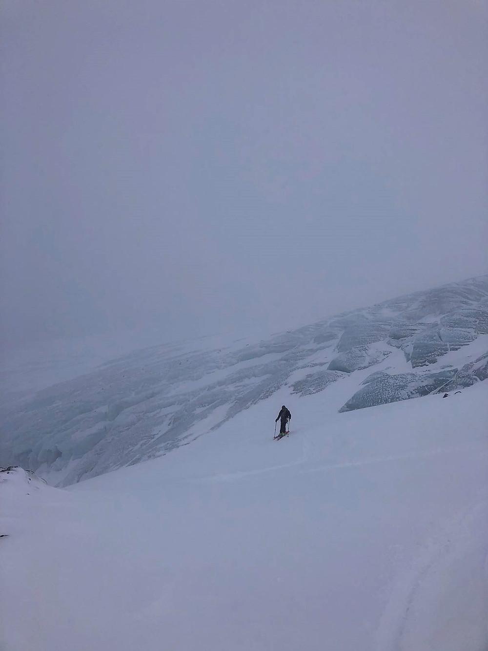 Ski free ride à la Grave