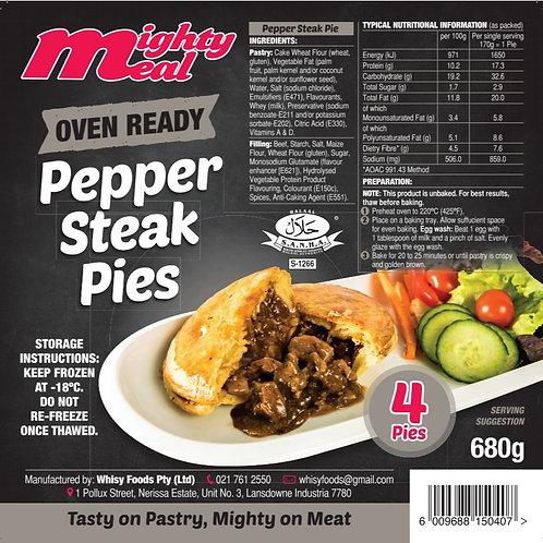 x4 Premium Oven-Ready Pepper Steak Pies