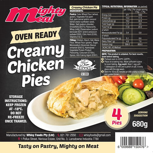 x4 Premium Oven-Ready Creamy Chicken Pies