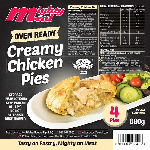 x4 Premium Oven-Ready Creamy Chicken Pies