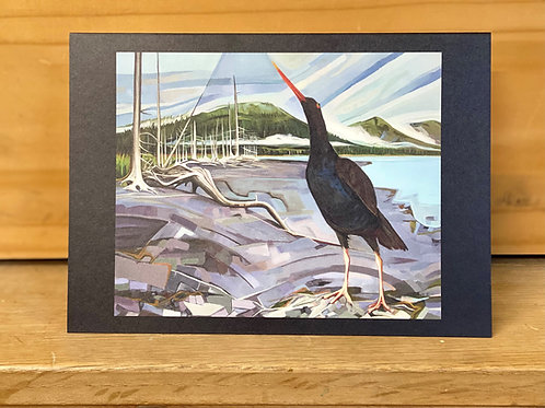 Single greeting card: Oystercatcher in Harriman