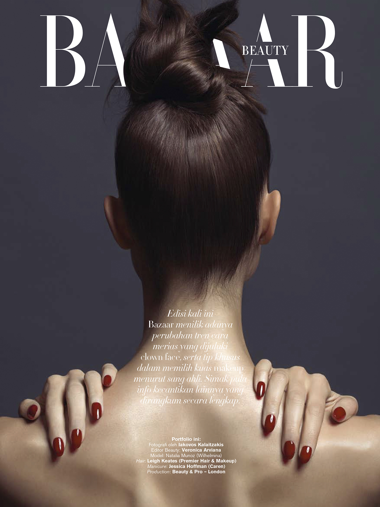 Harper's Bazaar Beauty Natalia Munoz 1
