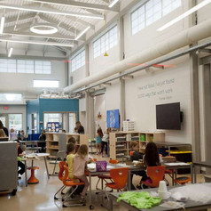 """Each grade has a shared """"maker space"""" where STEM lessons are taught daily"""