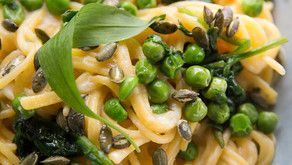 Cauliflower alfredo spaghetti