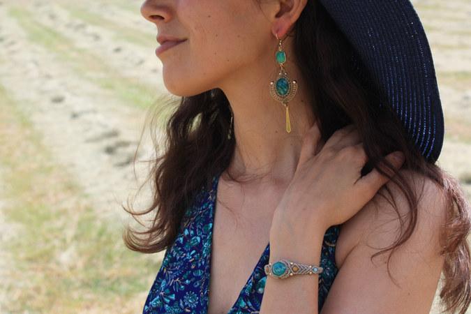 Ensemble bracelet/boucles amazonite