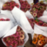 locally grown hudson valley zinnias from Rive Garden