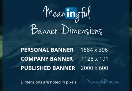 Virtual Appearance Tips | LinkedIn Banner Dimensions