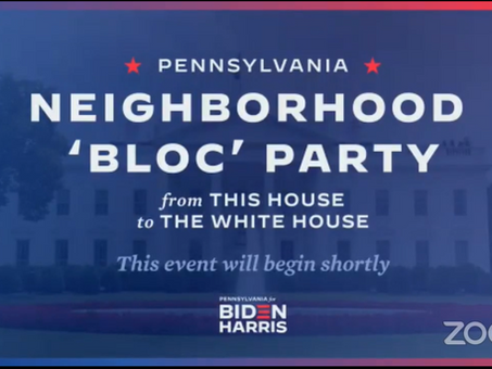 Event Recording! | A Pennsylvania Neighborhood 'Bloc' Party: From This House to the White House