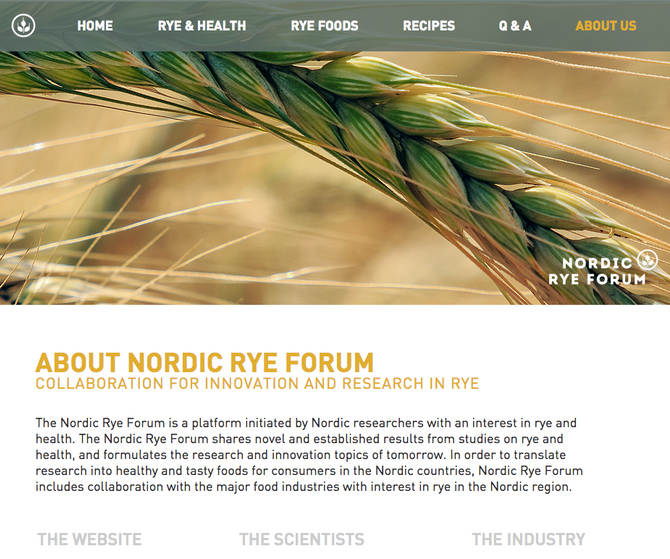 Launching of the Nordic Rye Forum Website