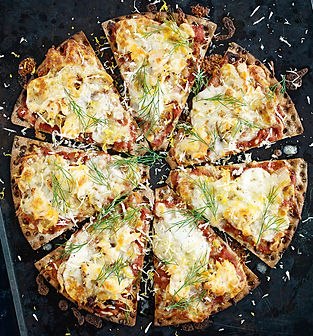 Rye Recipes - Salmon Pizza