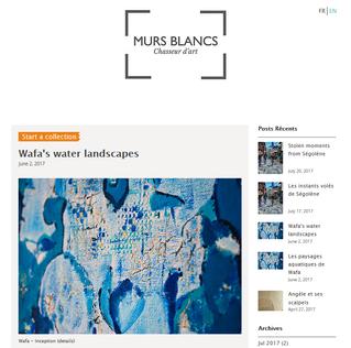 """My artworks sur """"Murs Blancs""""!"""