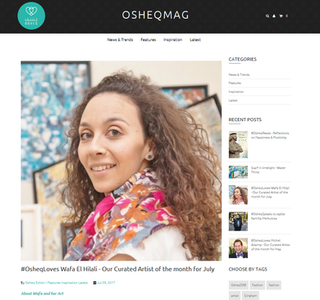 #OsheqLoves Wafa El Hilali - Our Curated Artist of the month for July