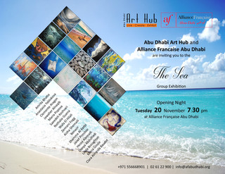 """The Sea"" (La Mer) exhibition continues at l'Alliance Française Abu Dhabi!"