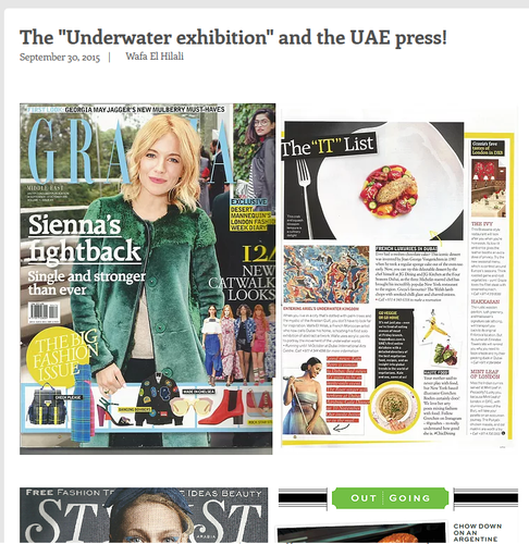The Underwater exhibition and the UAE press!