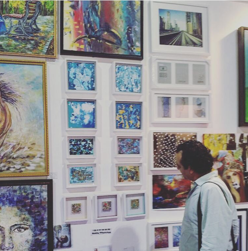 Wall of artworks at Index 2016...Looking for something? ;-)