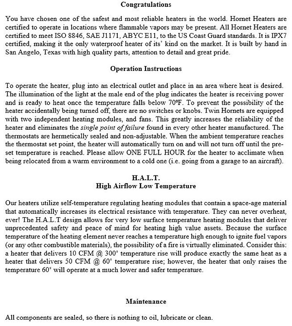 twin hornet 22 owners manual page 2.JPG