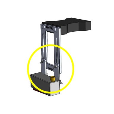 """4"""" extension bracket and hardware"""