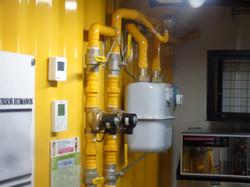 Central de gás comercial