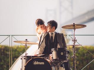 ドラムと一緒に・・・