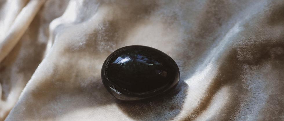 "Nephrite ""Harmonizing"" Jade Yoni Egg // GIA Certified Yoni Egg"