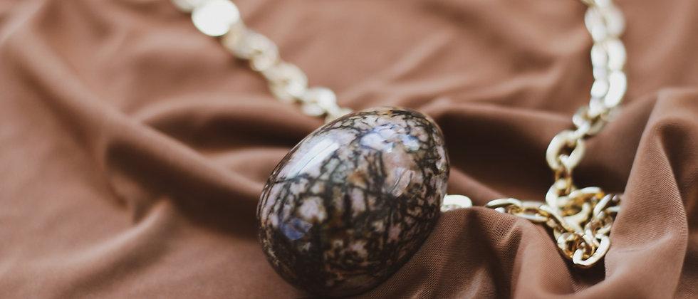 """""""Nurturing"""" Rhodonite // GIA Certified Yoni Egg"""