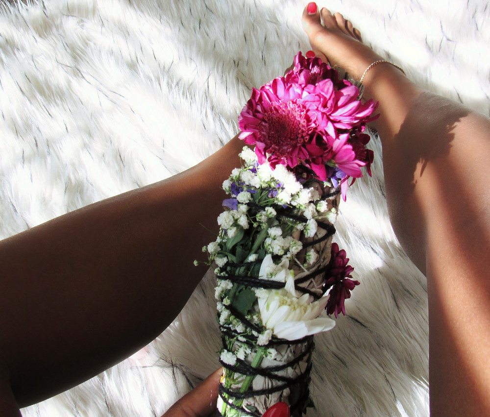 Sugar and Sage | Floral Sage | Hand wrapped Smudge Sticks