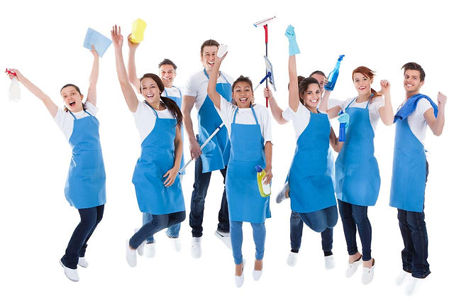 Commercial-Cleaning-Team-Jumping-in-the-