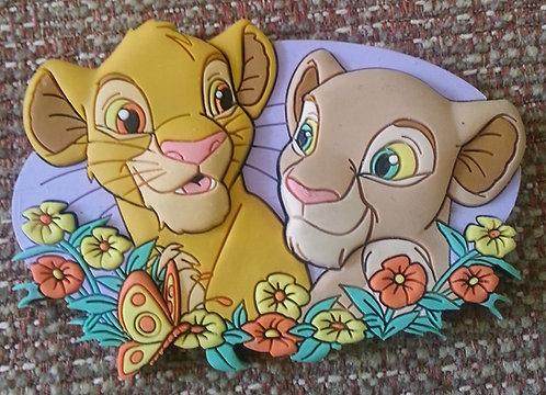 LION KING / SIMBA & NALA Disney Magnet