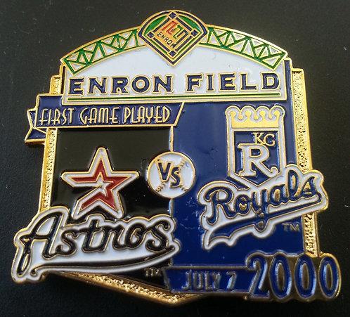 HOUSTON ASTROS vs KANSAS CITY ROYALS ENRON Pin