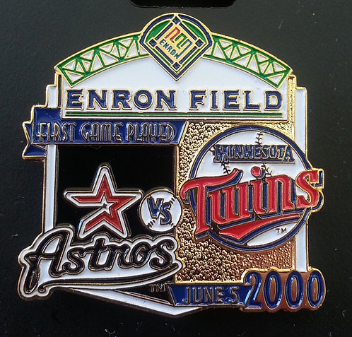TWINS First Game Played ENRON FIELD Lapel Pin
